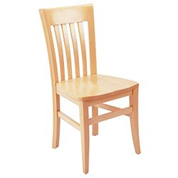 "G And A Commercial Seating 3805-Ss G&A 3805 Vertical High Back Chair - 17""W, 18"" Seat Height front-14243"