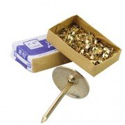 Appro. 300Pcs Iron Copper Plating Upholstery Furniture Nails Studs Tacks-Golden