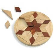 Cheap Holy Land Gifts Star of David Olive Wood Puzzle Trivet (B0054QP5T6)
