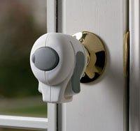 White Knob Lock - 2 Pieces