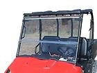 2009 - 2013 Polaris Ranger 800 Clear Folding , Fold Down Windshield