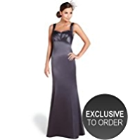 M&S Collection Sweetheart Neck Pleated Maxi Dress