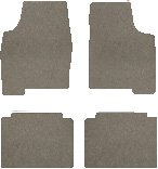 Lexus GS300 Carpeted Floor Mats 4 Pc Set - With All Wheel Drive - Gray (2006 06 ) AMSEO5O966M42AM