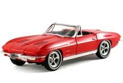1963 Chevrolet Corvette Convertible Red 1/32 - 1