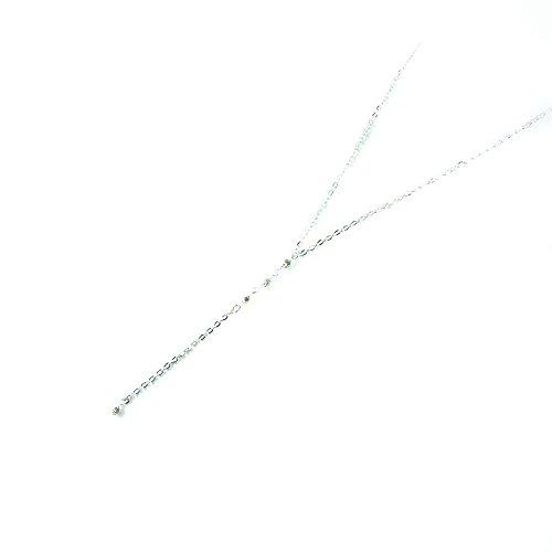 TrendsMe Chic Fashion Haus Tropfen Y Halskette mit Kristall-Perlen-Tropfen-Silber überzogene Lariat