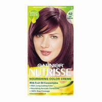 purple hair color, Garnier, Garnier Nutrisse Haircolor, 42 Deep Burgundy Black Cherry