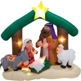 Gemmy CHRISTMAS AIRBLOWN INFLATABLE NATIVITY SCENE