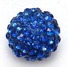 Bijoux By Me 12mm Pflaster-Fimokristallset Shamballa Armbandperlen - DIY Schmuckmachen Königsblau 4 Stück