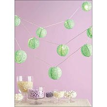 Martha Stewart Crafts Lantern Garland, Green Eyelet
