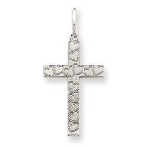 PriceRock Sterling Silver Laser Designed Cross Charm
