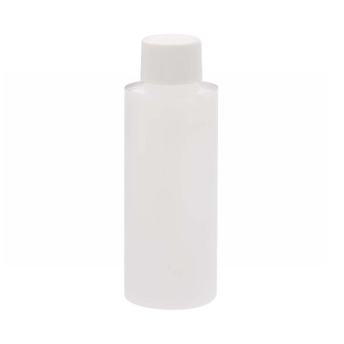 Wheaton 221154 Cylinder Round Bottle, Natural HDPE, 60mL, 35mm x 98mm (Case of 72) (White Cap Vapor Barrier compare prices)