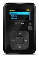 SanDisk 4GB Sansa CLIP+ MP3 Player BLACK (Refurbished) Bundle w/ 4GB MicroSDHC Card (8GB Total) & BlueProton USB 2.0 Reader