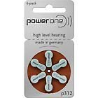 POWERONE POWER ONE P312 P 312 HEARING AID BATTERY 6X50 300 Pcs