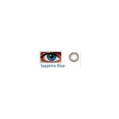 Coloured Contact Lenses with Free Solution & Case - Sapphire Blue (3 Months)