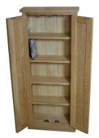 Tall Dvd Cd Storage Cupboard Mobel Solid Premier Oak Black Friday & Cyber Monday 2014