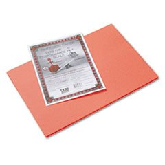 Pacon 103618 Riverside Construction Paper, 76 lbs., 12 x 18, Orange, 50 Sheets/Pack - 1