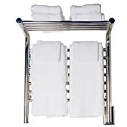E-Straight Towel Warmers in Brushed Finish