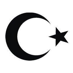 Türkei Flagge Schwarz Weiß