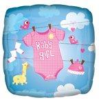 "Anagram International Baby Girl Onesie Foil, 18"", Multicolor"