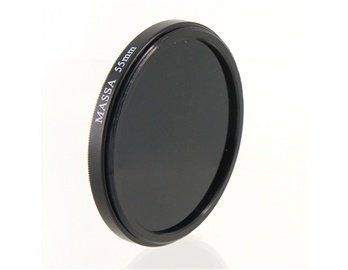 Mass 55 Mm Ir Lens Filter For Camera (Black)