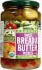 Woodstock Farms Organic Sweet Bread and Butter Pickles -- 24 oz (Bread Butter Pickles compare prices)
