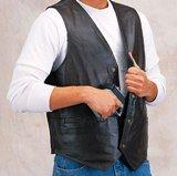 Concealed Leather Gun Vest for Concealment