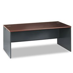 ** 38000 Series Desk Shell, 72w x 36d x 29-1/2h, Mahogany/Charcoal