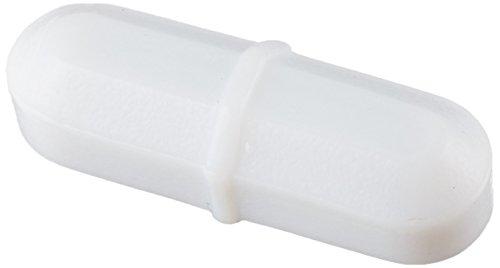 Scienceware 371100001 PTFE Octagon Spinbar Magnetic Stirrer Bar, with Integral Pivot Ring, White, 1