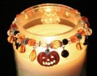 Halloween Spooky Boo Jack O Lantern Spider Bat Ghost Candle Jar Candy Decor