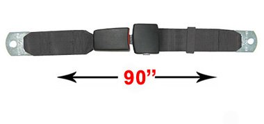 Red Universal Seat Belt With End Button Release, Replacement Car Belt, 90 Inch, front-715261