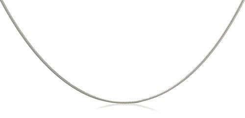 9ct White Gold Round Snake 46cm Chain