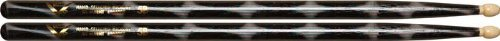 Vater Percussion Color Wrap 5B Drumsticks, Black Optic, Wood Tip
