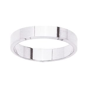 So Chic Jewels - 9k White Gold 4 mm Flat Classic Wedding Band Ring