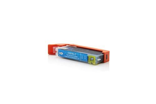 Inkadoo® Tinte passend für Canon Pixma IP 7250 ersetzt Canon CLI551CXL , CLI-551CXL6444B001 - 1x Premium Drucker-Patrone Kompatibel