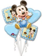 Disney Mickey Mouse 1st Birthday Five Piece Balloon Bouquet