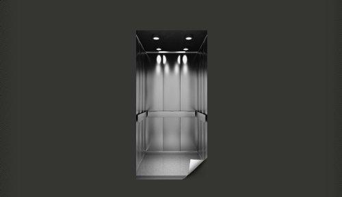 Papier peint pour porte ascenseur affiche poster pour for Decoration porte ascenseur