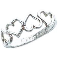 Sterling Silver Heart Promise Ring Sz 7