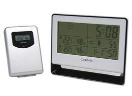 Craig Wireless Weather Station Alarm Clock and Snooz Function