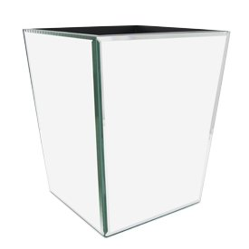 Mirrored Trash Can