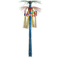 International Flag Cascade Hanging Column Party Accessory (1 count) (1/Pkg)
