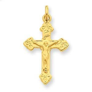 PriceRock Sterling Silver & 24k Gold -plated INRI Crucifix Charm