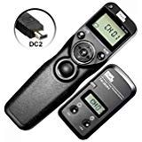 PIXEL FSK 2.4GHz Wired or Wireless Timer Shutter Remote Control for Nikon D5200 D3100 D5000 D7200 D600 D610 D750 D3200 D3300 Cameras (Color: TW-283/DC2 for Nikon)