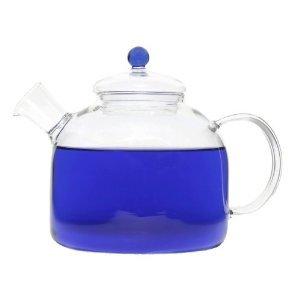 Grosche Indigo Heatproof Glass Stovetop Water & Tea Kettle 1750 Ml 59 Fl. Oz
