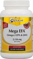 Vitacost Mega EFA Omega-3 EPA & DHA Fish Oil -- 2,126 mg per serving - 60 Softgels