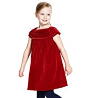 Autograph Pleated Velvet Dress