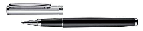 Otto Hutt 01 - Bolígrafo de punta rodante, color plateado y negro