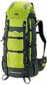 Front & Top Heap Adrenaline 6,500 Cu in Backpack By High Peak