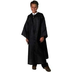 Black Dress Up Robe for graduation wizard ghoul witch