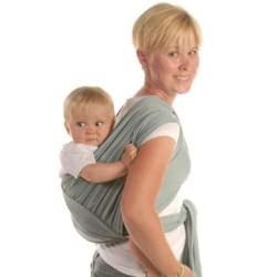 Moby Wrap Baby Carrier-Moss