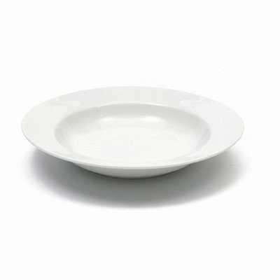 Maxwell And Williams Basics Rim Soup Bowl, 9-Inch, White